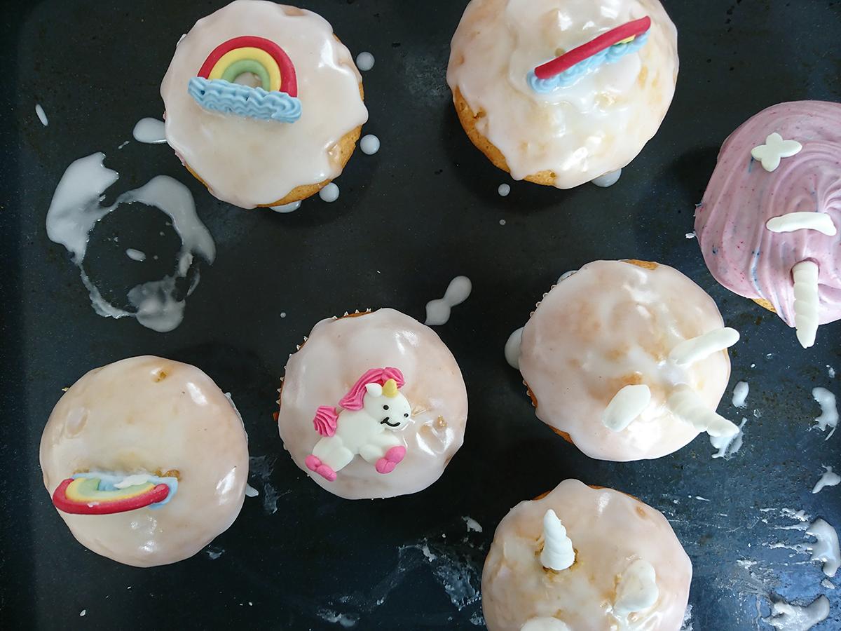 Einhorn-Muffins für die Einhornparty