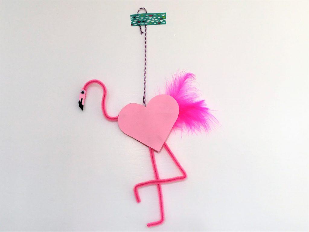 Bild für Flamingo aus Pfeiffenputzern