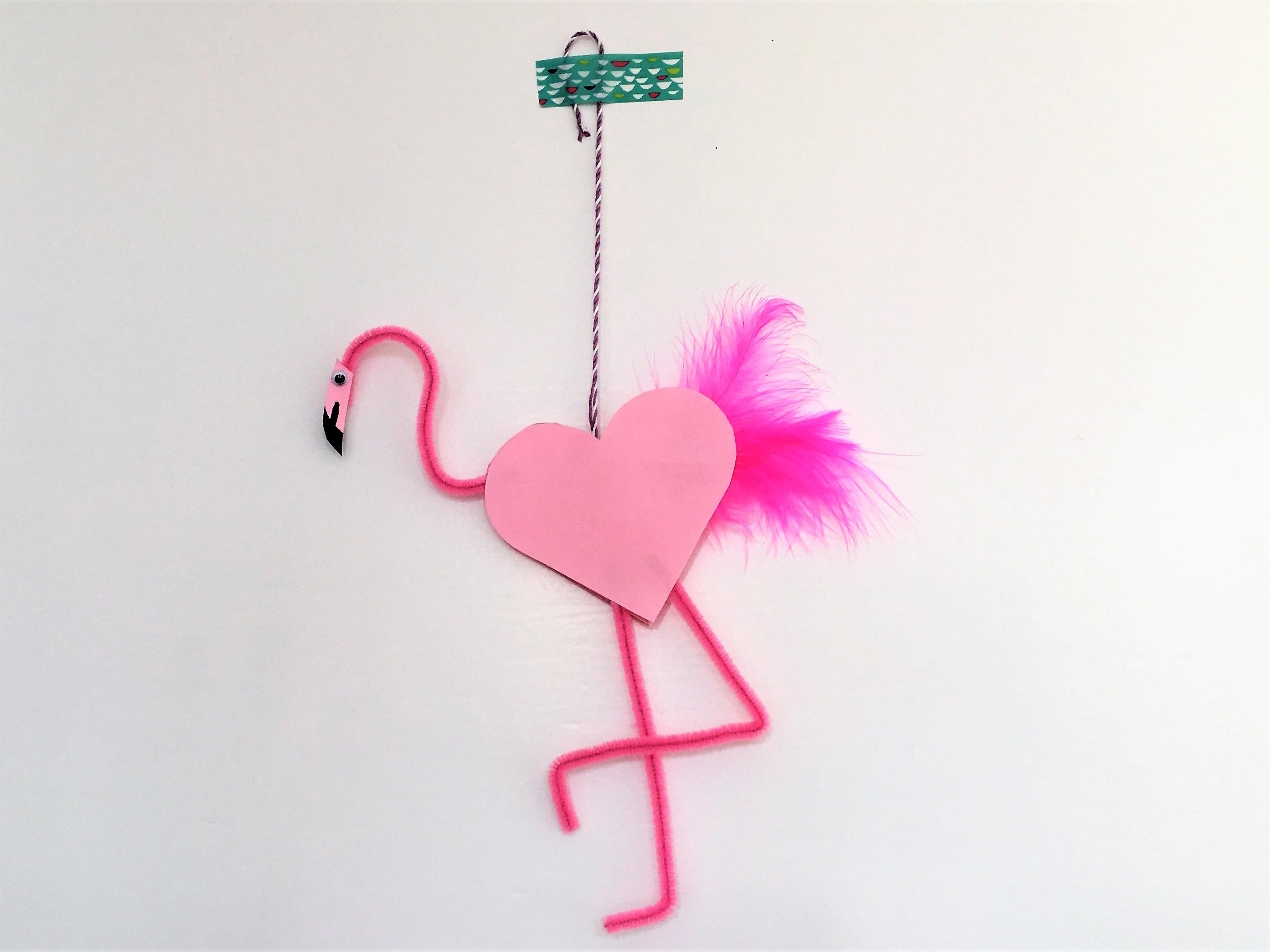 flamingo pfeiffenputzer valentinstag basteln zum valentinstag diy hooray today. Black Bedroom Furniture Sets. Home Design Ideas