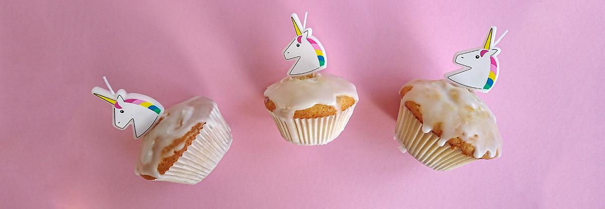 Einhörner Einhorn-Muffins Cupcakes