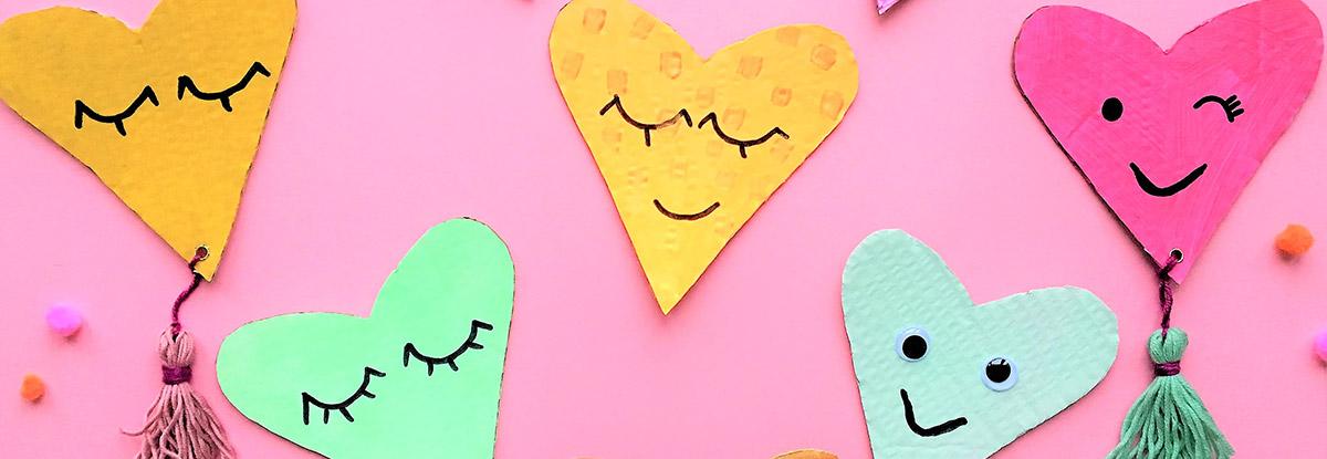 Valentinstag Basteln DIY Herzen