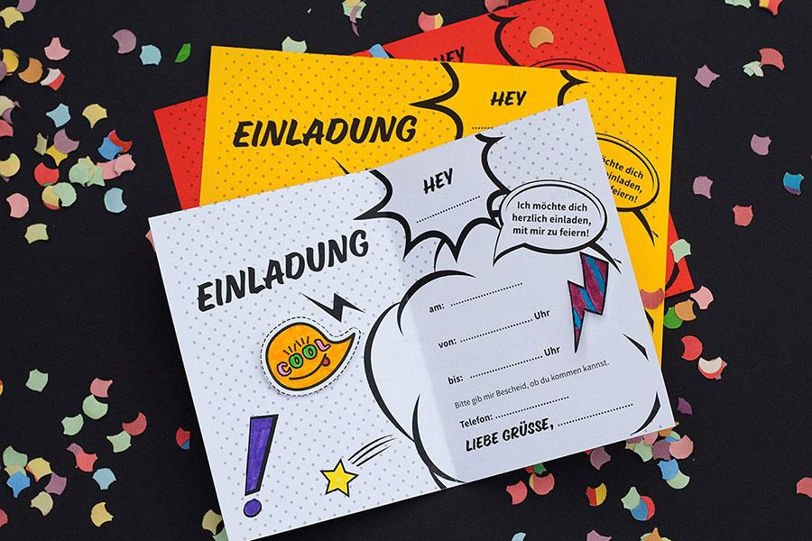 Bild für Einladungskarte mit Stickern