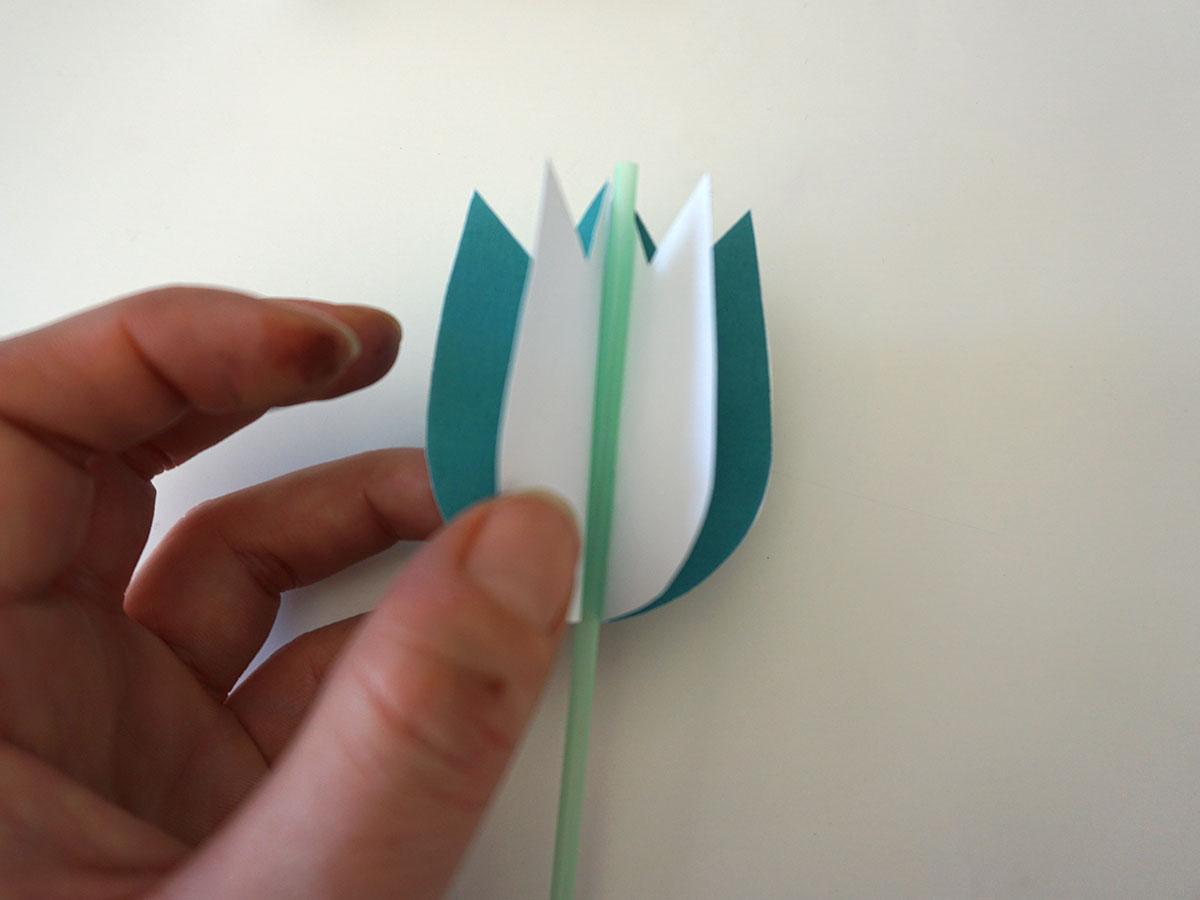 Tulpenstrauss aus Papier