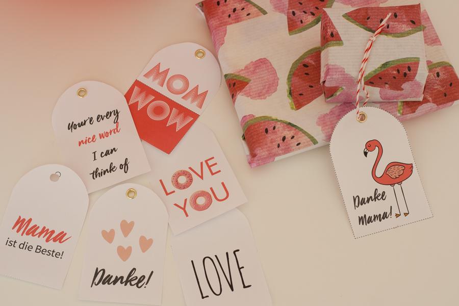 Bild für Danke Mama! Geschenkanhänger zum Muttertag