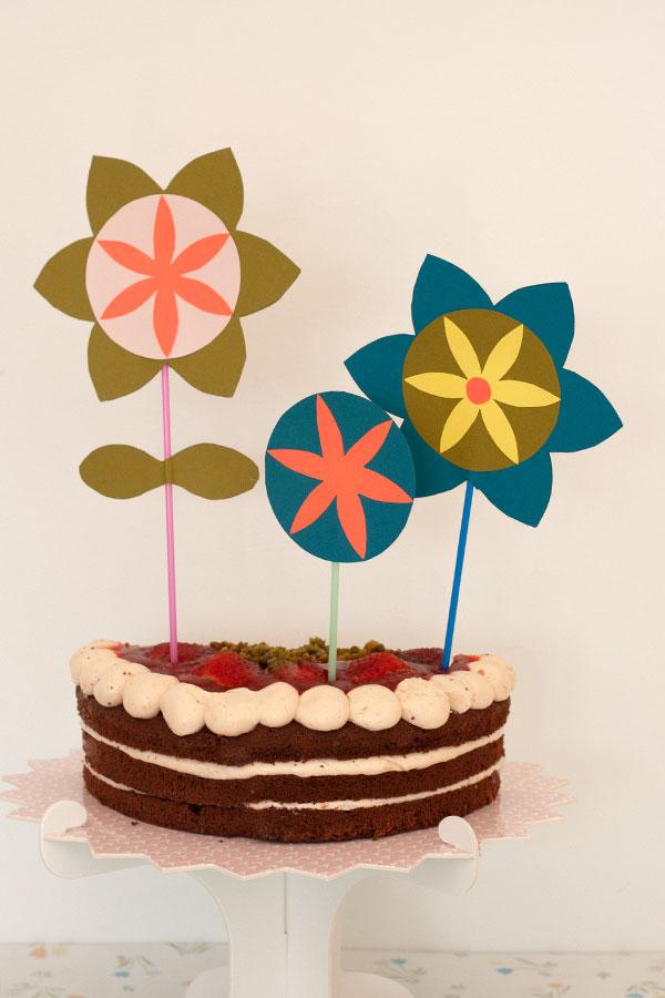 Cake-Topper-zum-Muttertag