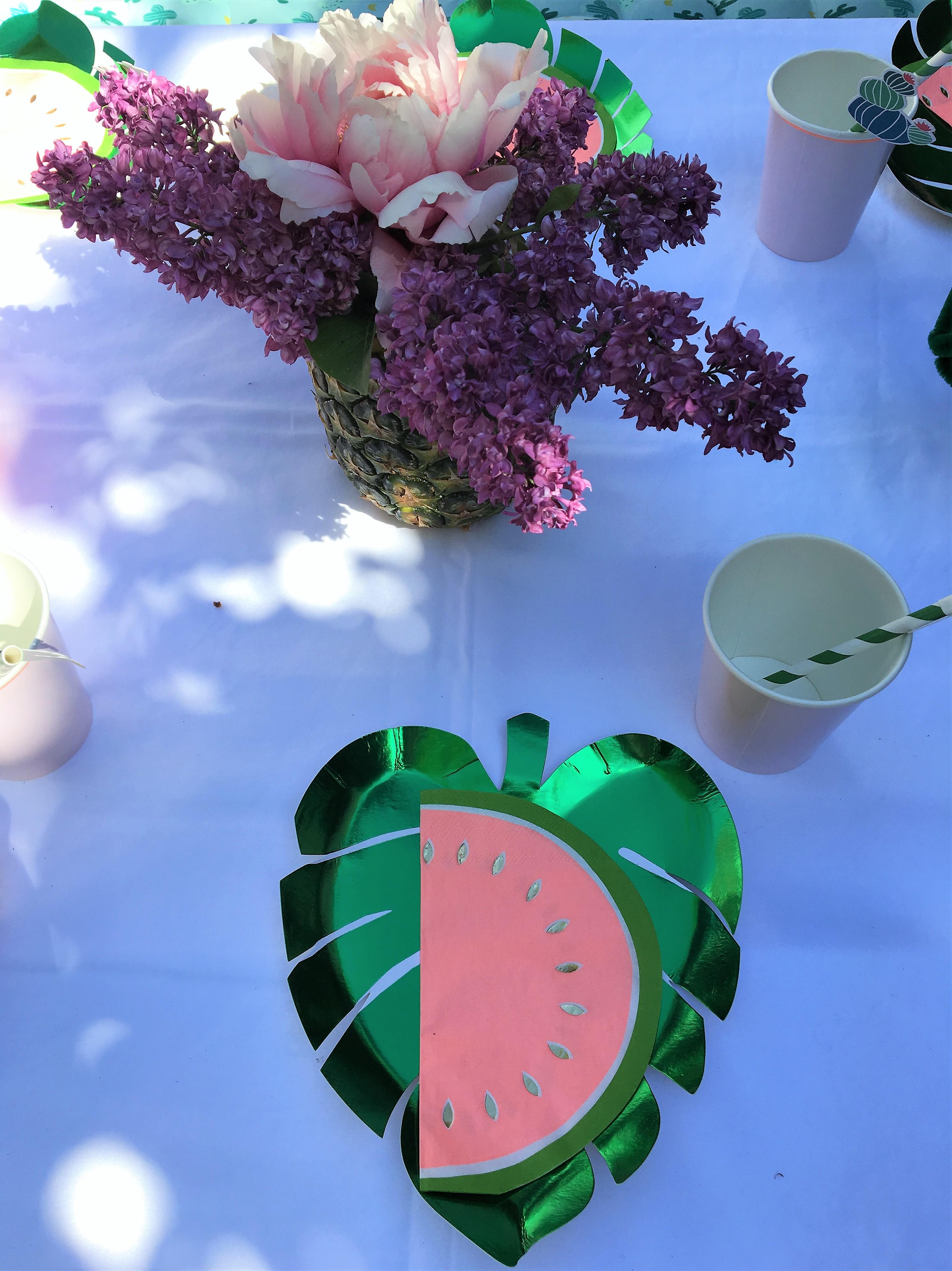 Diy Ananas Vase Geburtstagstisch Diy Kindergeburtstag Tischdeko