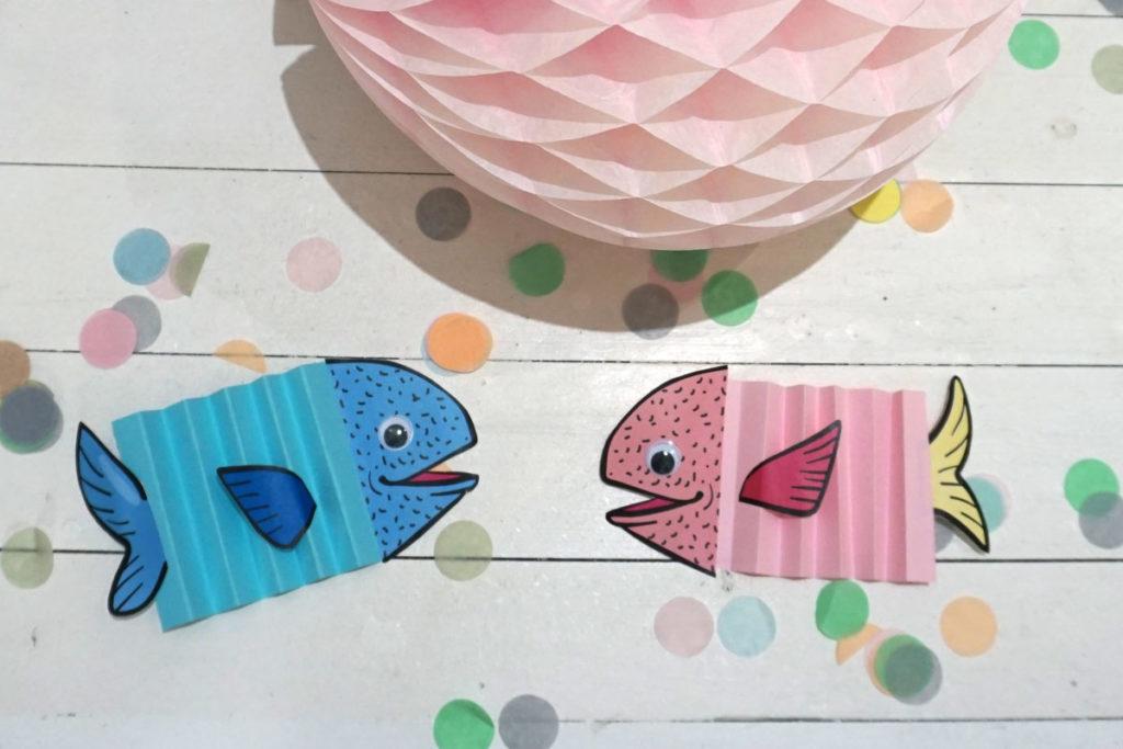 Bild für Wackelaugen-Fische für die Meerjungefrauen-Party