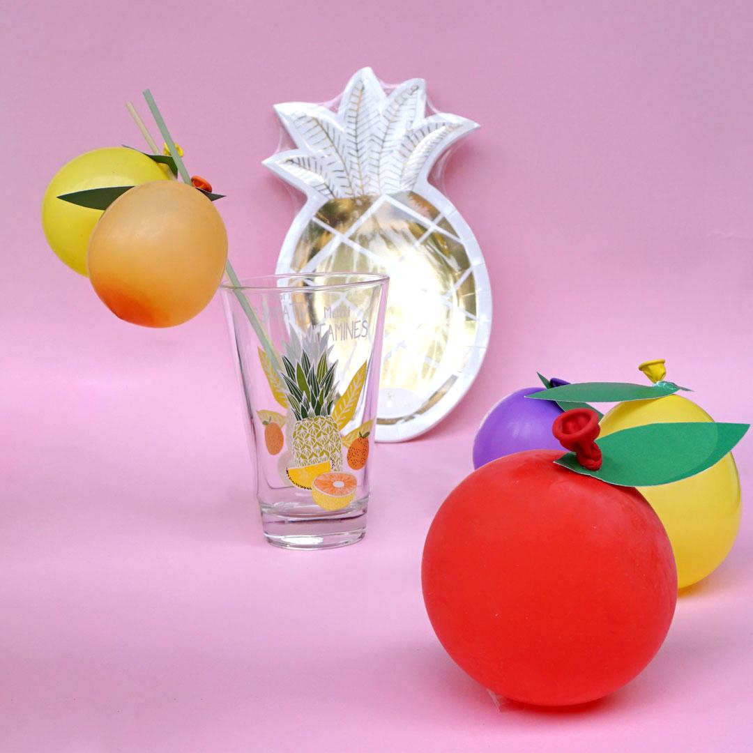 DIY Ballon-Früchte