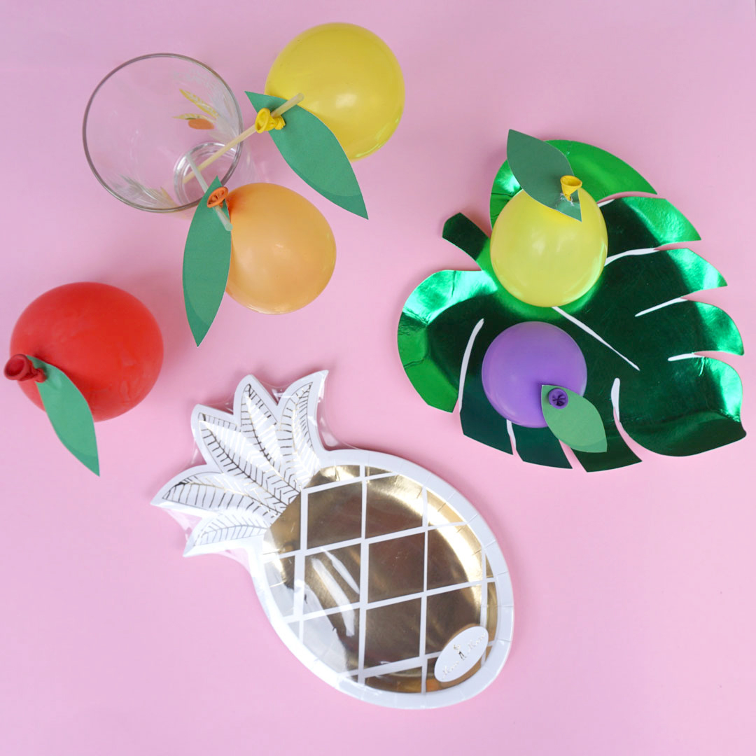 Ballon-Früchte als Partydekoration, Kirschen aus Luftballons, Ballon ...