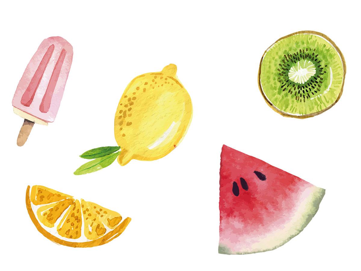 Früchte-Tags für die Sommerparty