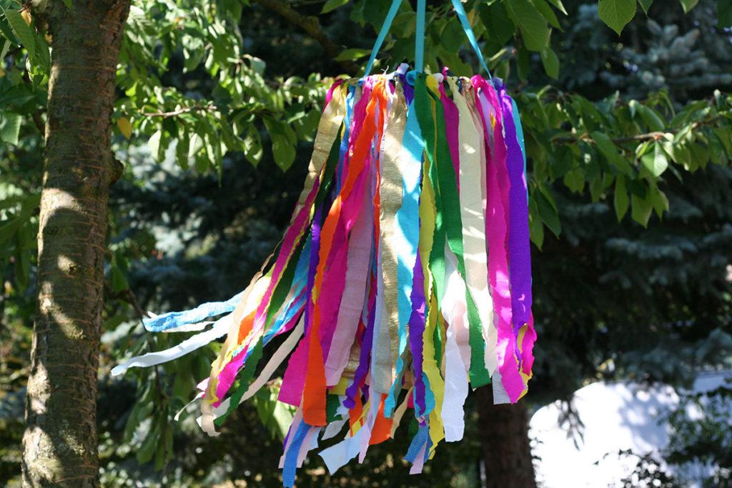 Bild für Bunter Sommerkranz für die Gartenparty