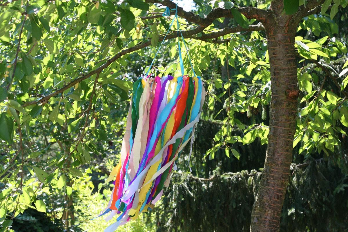 Sommerkranz für die Gartenparty