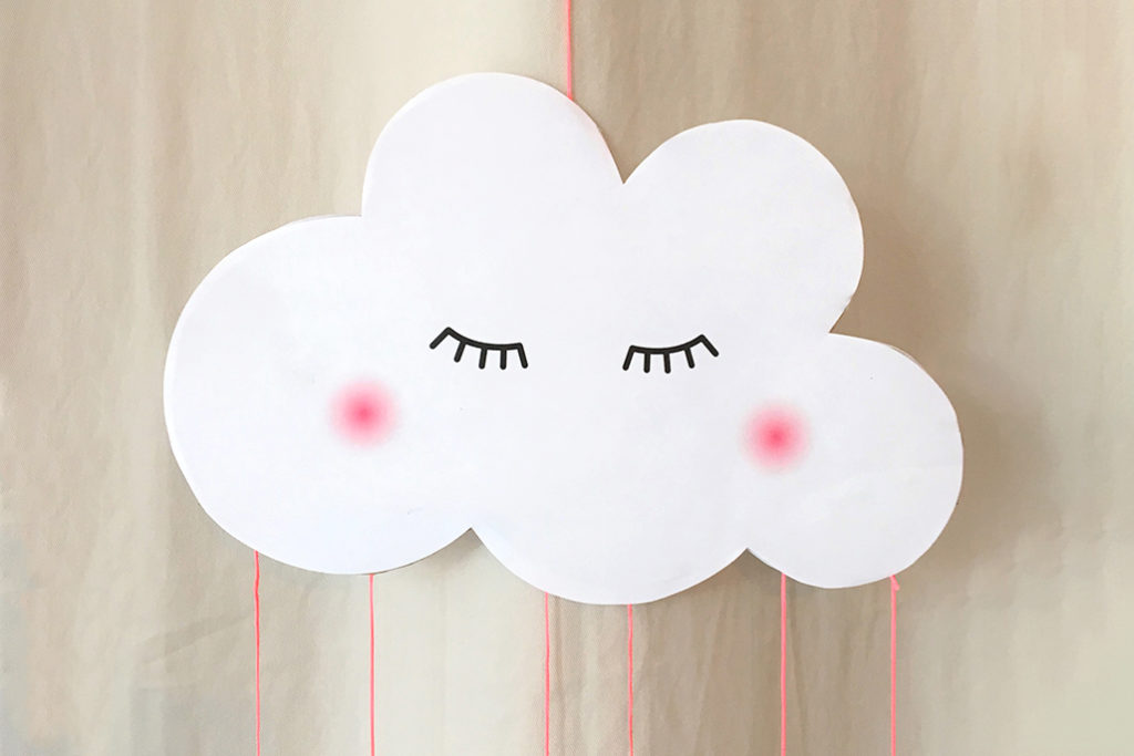 Bild für Wolken-Deko zum Selbermachen mit Freebie