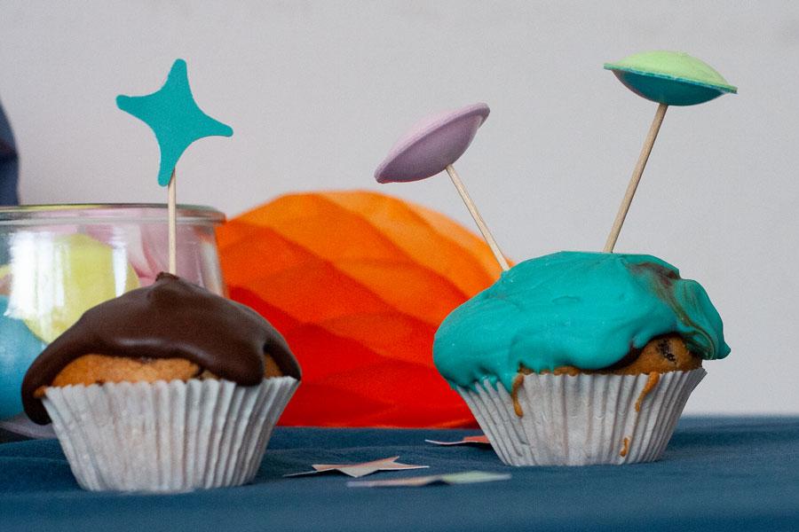 Weltraumparty Muffins